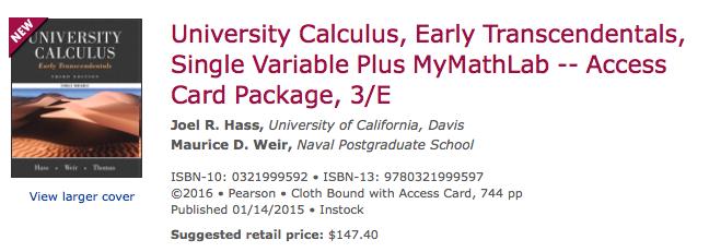 Math 120 Calculus I